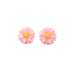 Children Clipon Earrings and Children Jewellery – Baby pink daisy flower
