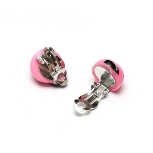 Children Clipon Earrings and Children Jewellery – Baby pink ladybug clip-on earrings