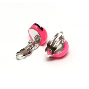 Children Clipon Earrings and Children Jewellery – Pink ladybug clip-on earrings