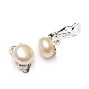 Children Clipon Earrings and Children Jewellery – White freshwater pearls clip-on earrings,...