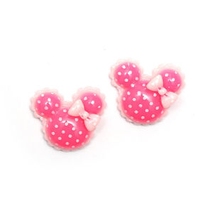 Children Clipon Earrings and Children Jewellery – Pink polka dot minnie mouse shape clip-on...