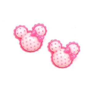 Children Clipon Earrings and Children Jewellery – Baby pink polka dot minnie mouse shape...