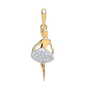 Children Clipon Earrings and Children Jewellery – Ballerina with CZ, 1.3g