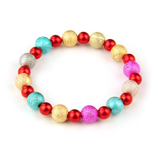 Children Clipon Earrings and Children Jewellery – Multicoloured Imitation Acrylic Pearl...