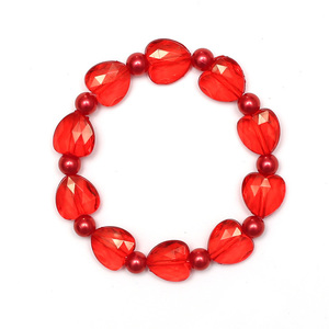 Children Clipon Earrings and Children Jewellery – Red Imitation Pearl Acrylic Beads and...