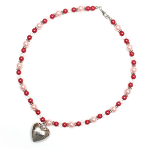 Children Clipon Earrings and Children Jewellery – Crimson Acrylic Imitated Pearl Necklace...