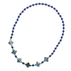 Children Clipon Earrings and Children Jewellery – Marine Blue Acrylic  Stretch Necklace...