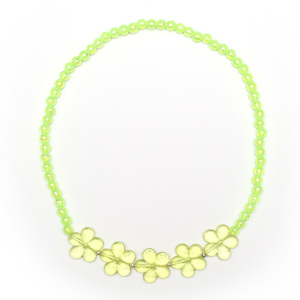 Children Clipon Earrings and Children Jewellery – Yellow Green Transparent Acrylic Flowers...