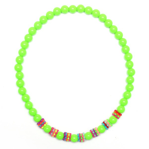 Children Clipon Earrings and Children Jewellery – Lawn Green Fluorescence Acrylic Stretchy...