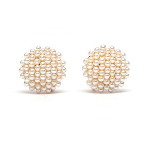 Children Clipon Earrings and Children Jewellery – White round small faux-pearls clip on...